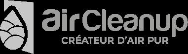 Logo de la société Air Cleanup, créateur d'air pur grisé