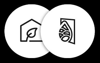 symboles d'air pur intérieur